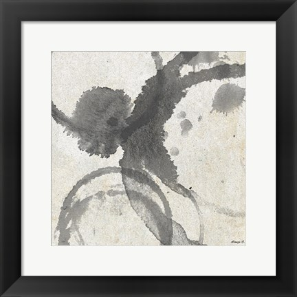 Framed Square Coffee Stains Print