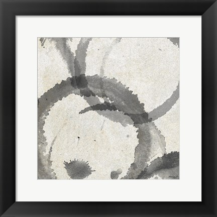 Framed Square Coffee Stains 3 Print