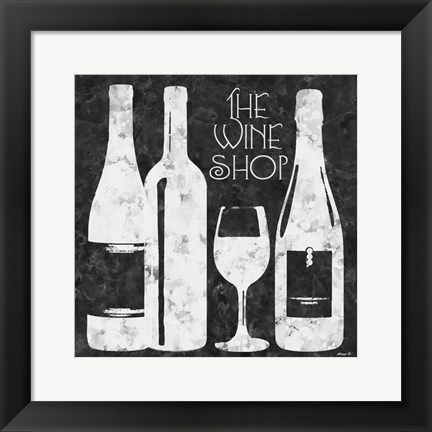 Framed Wine Shop Print