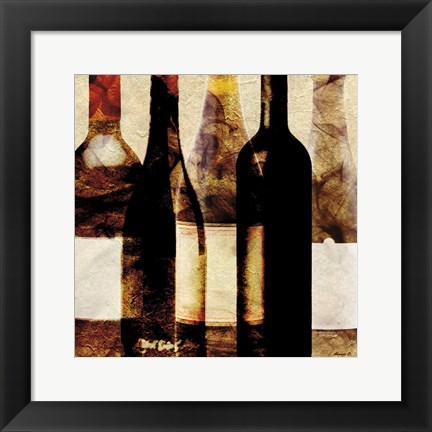 Framed Smokey Bottles Print