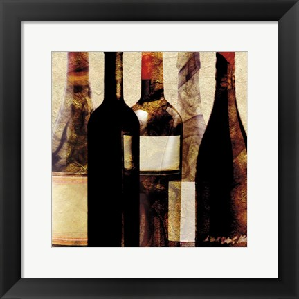 Framed Smokey Bottles 2 Print