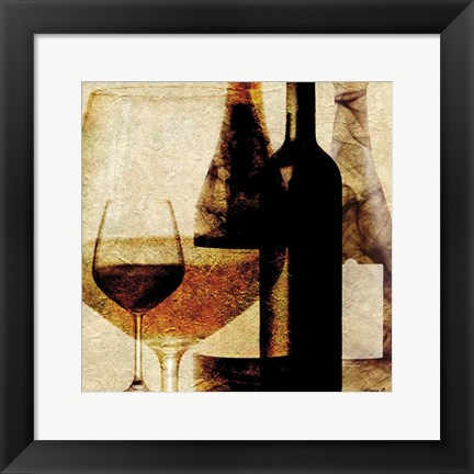 Framed Smokey Wine Print