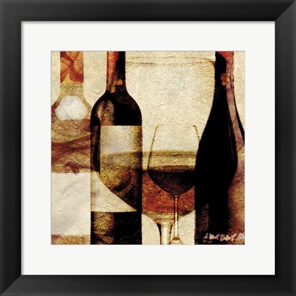 Framed Smokey Wine 2 Print