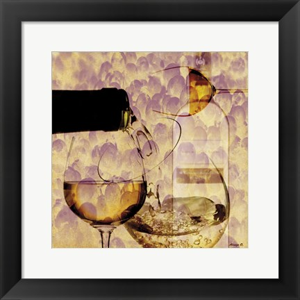 Framed White Wine Print