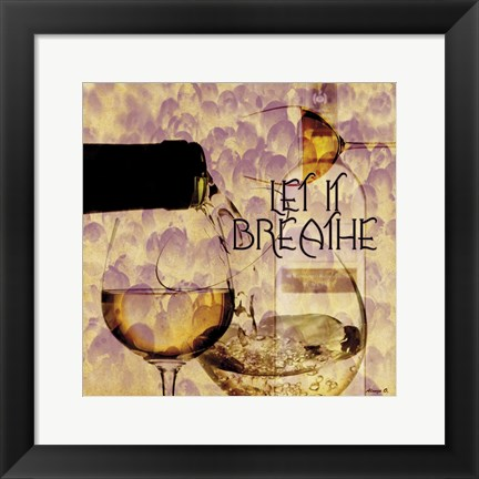 Framed White Wine 2 Print