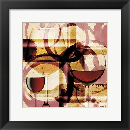 Framed Wine 3 Print