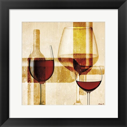 Framed Wine 13 Print