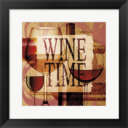 Framed Wine Time 2 Print