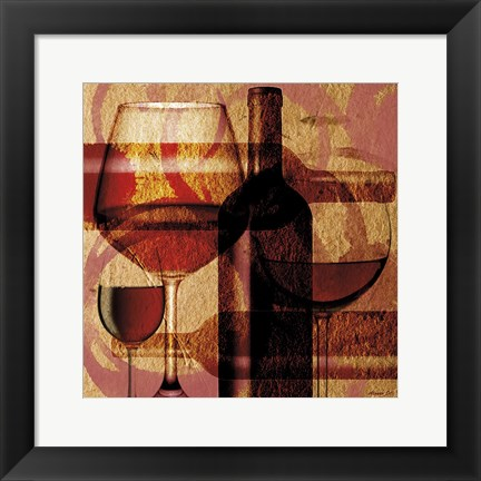Framed Wine 17 Print