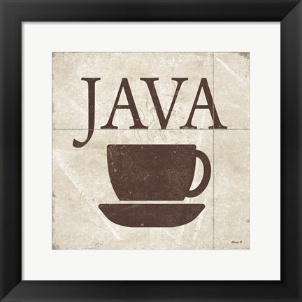 Framed Java Print