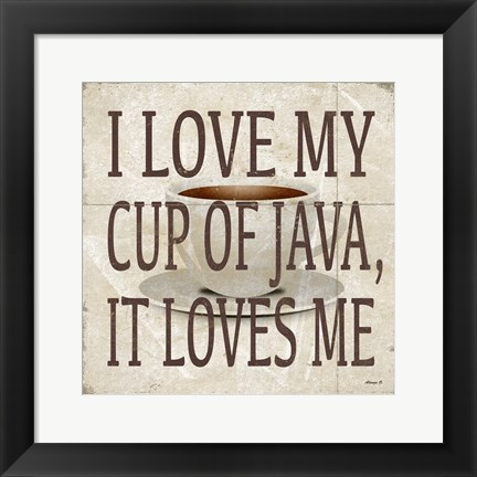 Framed Love Java Print