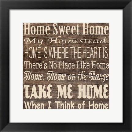 Framed Home Sweet Home 3 Print