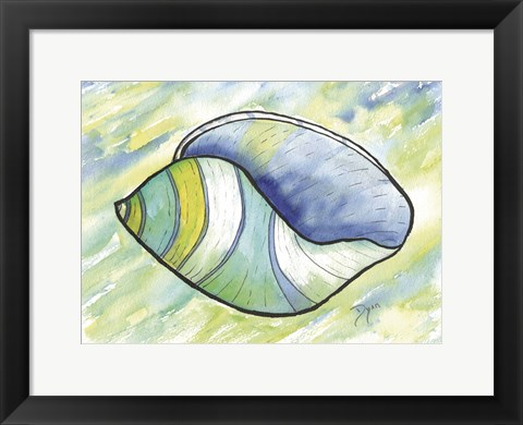Framed Underwater Shell 2 Print