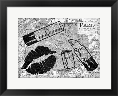 Framed Primped Paris Print