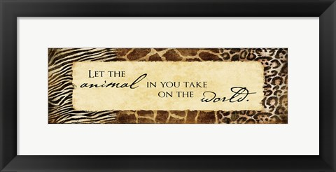Framed Animal Prints  Inspirational Print