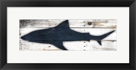 Framed Shark Wood Print