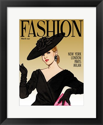 Framed Fashion Mag Print