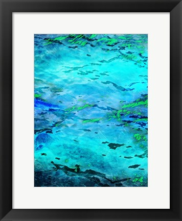 Framed Abstract Waves Print