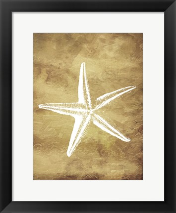 Framed Gold Starfish Print