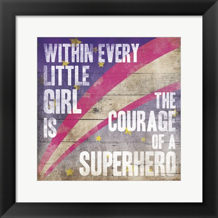 Framed Superhero Girl Mate Print