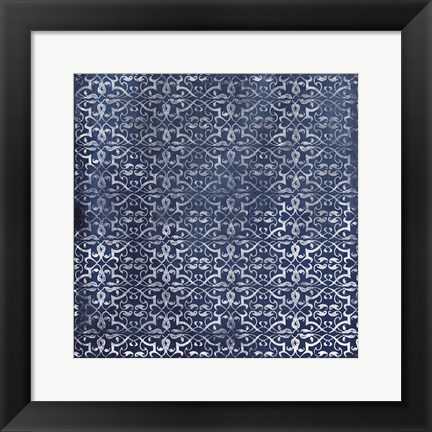 Framed Blue Pattern Print