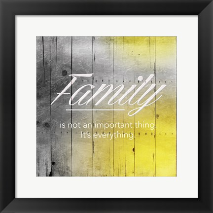 Framed Family Sun Wood Mate Print