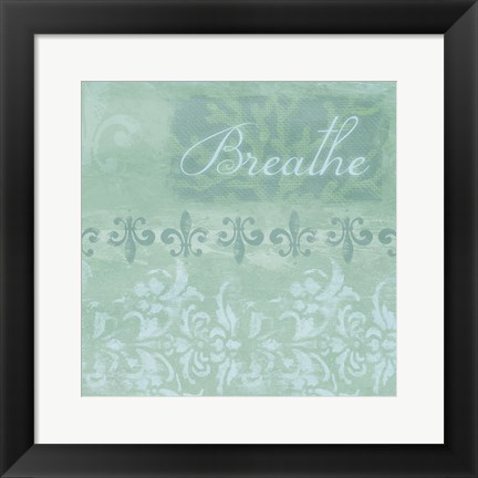 Framed Spa Breathe Print