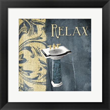 Framed Sink Relax Print