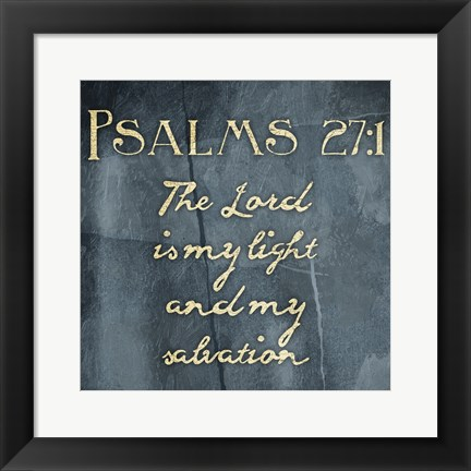 Framed Abstract Psalm 27 1 Print