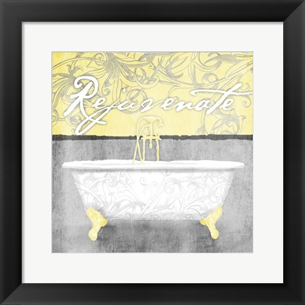 Framed Yellow Rejuvenate Print