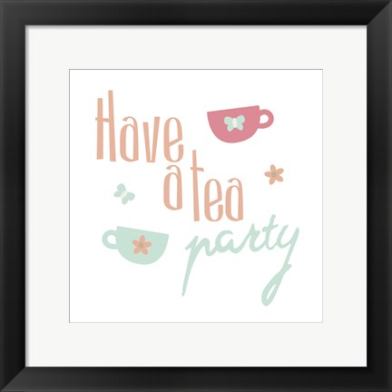 Framed Tea Party Print