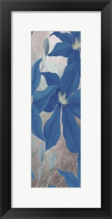 Framed Blue Clematis Cavees II Print