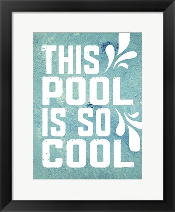 Framed Pool Textures 1 Print