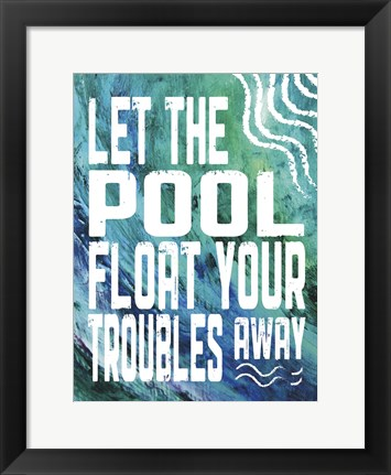 Framed Pool Textures 5 Print