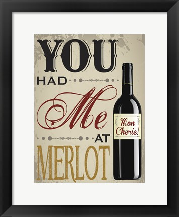 Framed Wine And Laughs Print