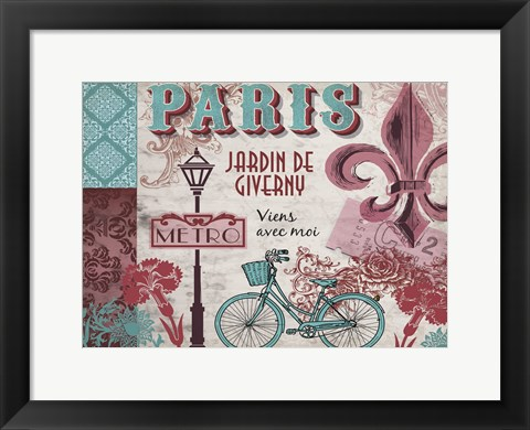 Framed Paris Series Pinks 2 Print