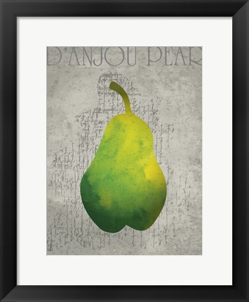 Framed Pear Print