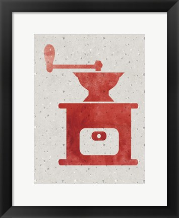 Framed Kitchen Watercolor Brights 3 Print