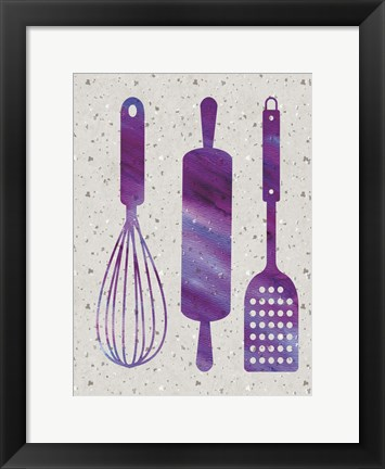 Framed Kitchen Watercolor Brights 5 Print