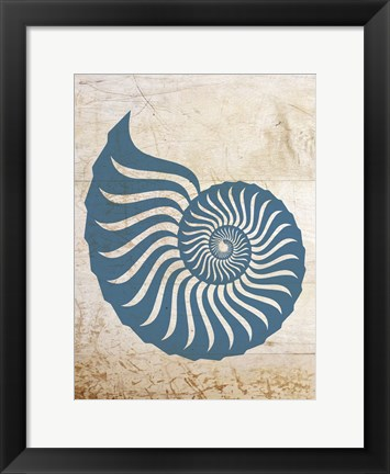 Framed Coastal Patterns 6 Print