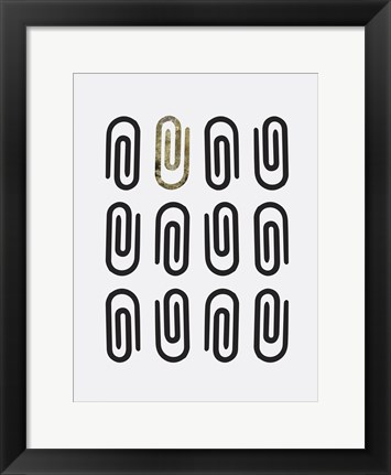 Framed Office Glam Icon Gold Pop 2 Print
