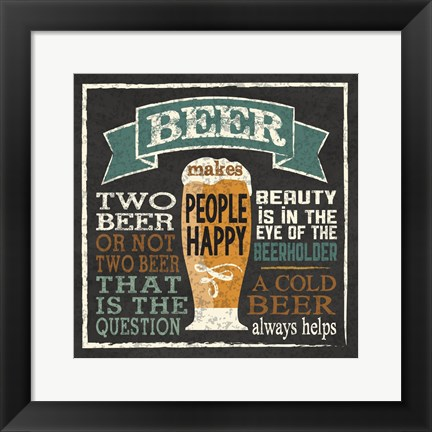 Framed Beer Humor Print