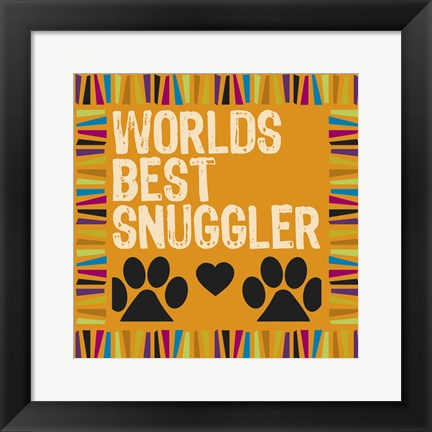 Framed Doggie Love Borders 02 Print
