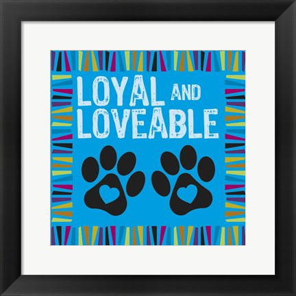 Framed Doggie Love Borders 06 Print