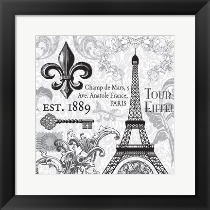 Framed Paris SQ Print