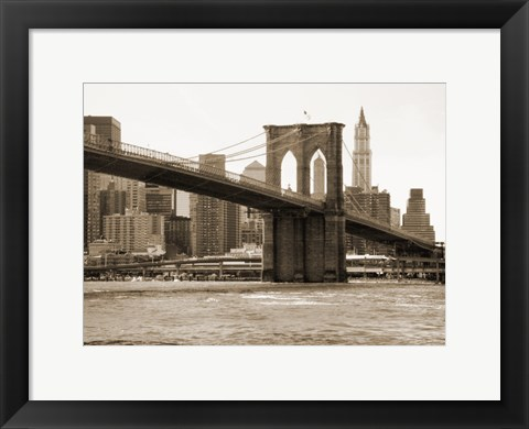 Framed Brooklyn Bridge 47 II Print