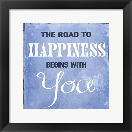 Framed Road to Happiness Print