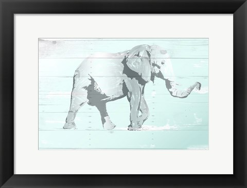 Framed Soft Elephant Print