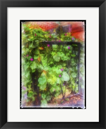 Framed Fence And Gate NYC Print