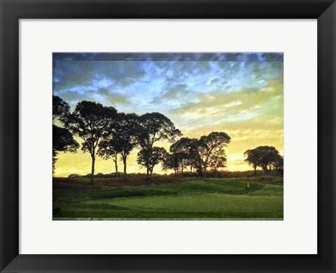 Framed Golf Course Painted Border Print